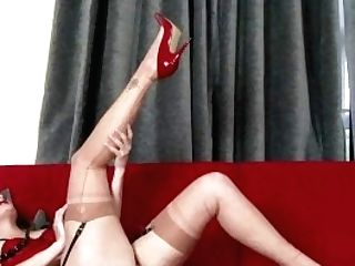 Honour May Intimate Horny Taunting Masturbating In Underwear High-heeled Shoes Stockings