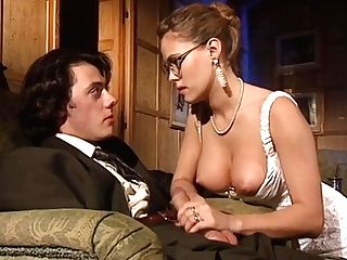 Exceptionally Sexy 80s Lady In Hot Black Antique Stockings Loves Classical Dual Intrusion
