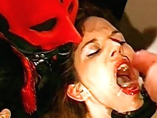 German Retro Black-haired Deepthroats Rather Big Spears And Gets Facial Cumshot Money-shots