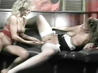 Hot Antique Honies Use Big Fake Penises On Each Other To Jizm
